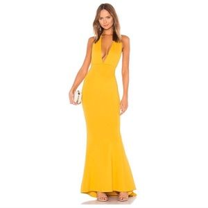 Jenny From the Block Gown in mustard